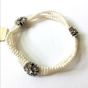 RALPH LAUREN pearl rhinestone bracelet
